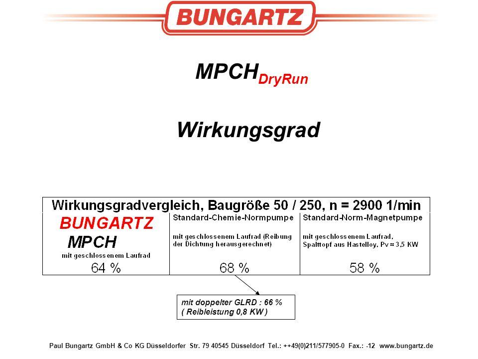 Paul Bungartz GmbH & Co KG Düsseldorfer Str. 79 40545 Düsseldorf Tel.: ++49(0)211/577905-0 Fax.: -12 www.bungartz.de MPCH DryRun Wirkungsgrad mit dopp