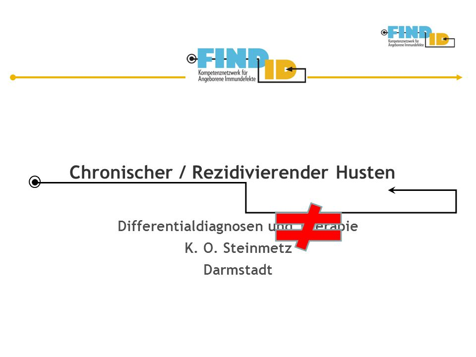 Chronischer / Rezidivierender Husten Differentialdiagnosen und Therapie K. O. Steinmetz Darmstadt