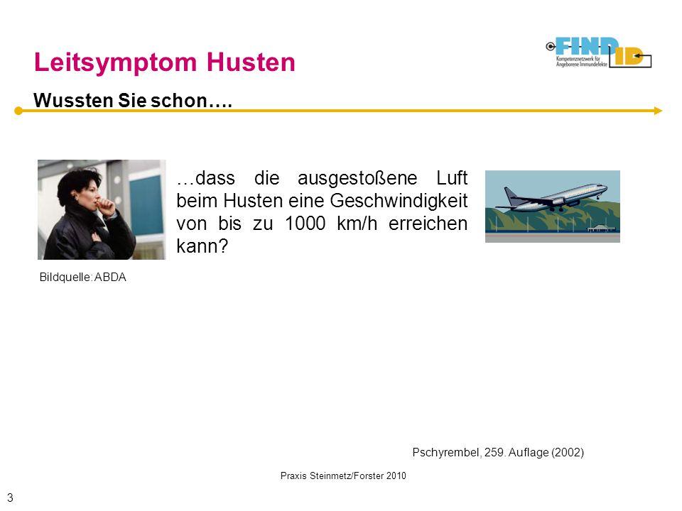 Praxis Steinmetz/Forster 2010 …dass die ausgestoßene Luft beim Husten eine Geschwindigkeit von bis zu 1000 km/h erreichen kann? Wussten Sie schon…. Le