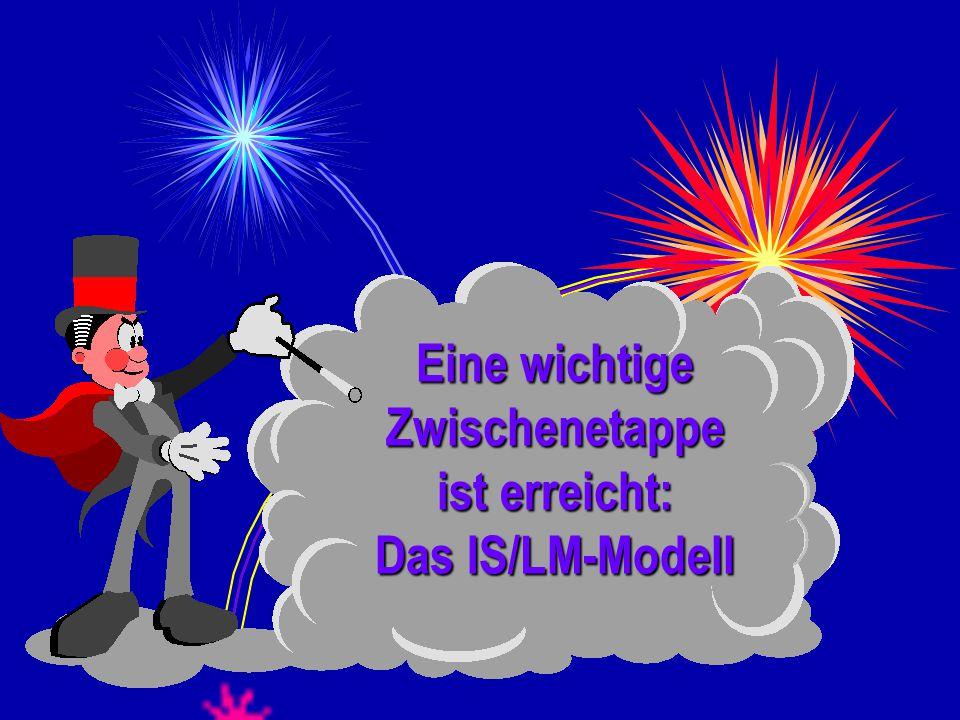 Goethe-Universität, Frankfurt/Main 315 Eine wichtige Zwischenetappe ist erreicht: Das IS/LM-Modell