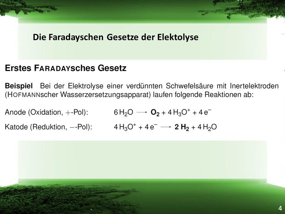Die Faradayschen Gesetze der Elektolyse 5 4