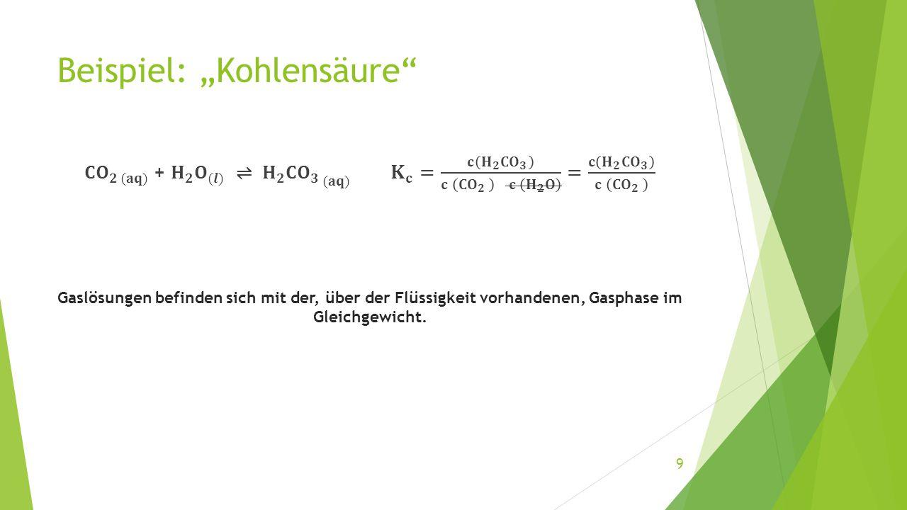 """Beispiel: """"Kohlensäure"""" 9"""