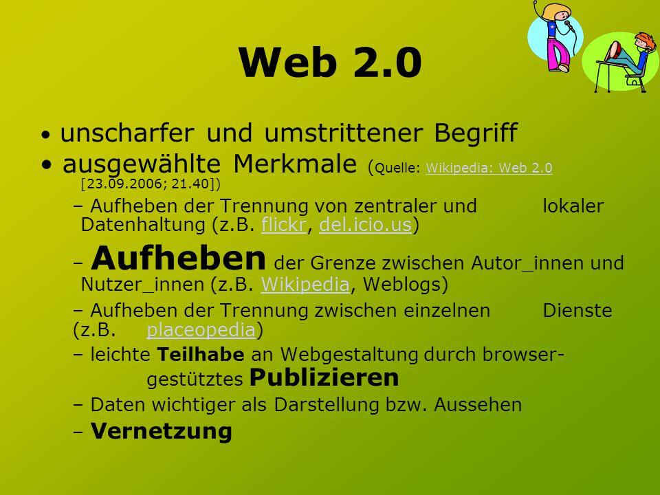 Web 2.0 Überblick zu neuen Web 2.0 Anwendung: Web2NullWeb2Null