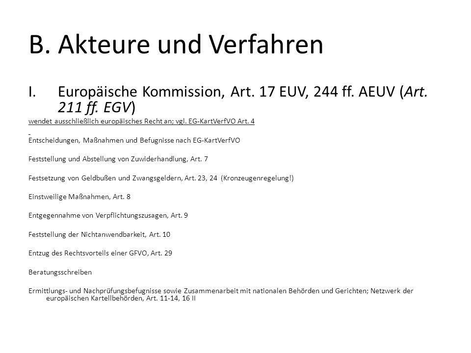 B.Akteure und Verfahren I.Europäische Kommission, Art.