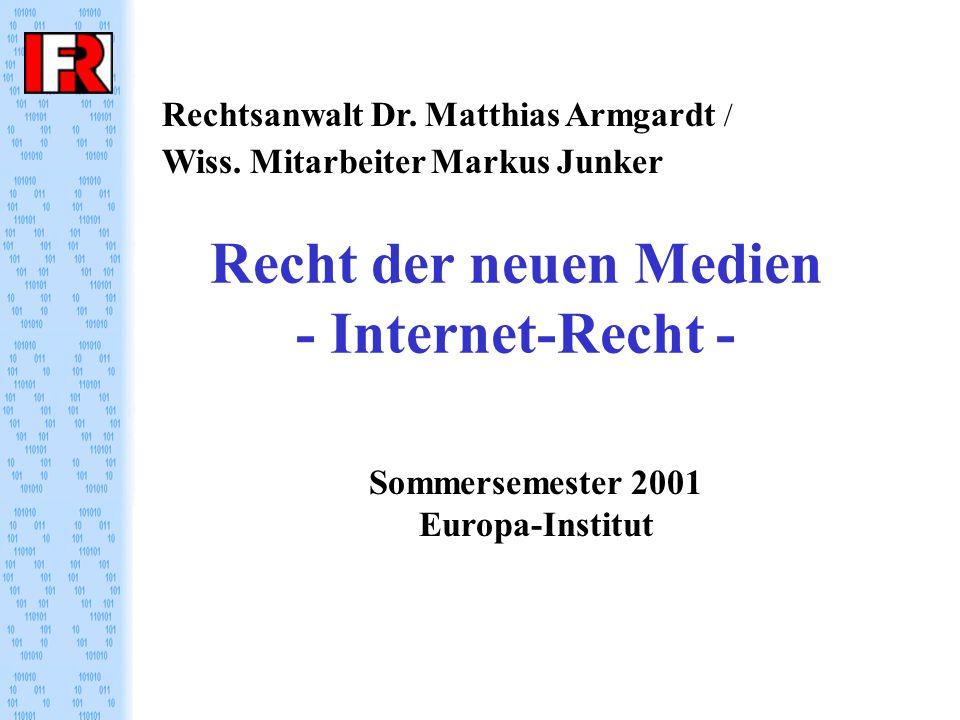 Recht der neuen Medien - Internet-Recht - Rechtsanwalt Dr.