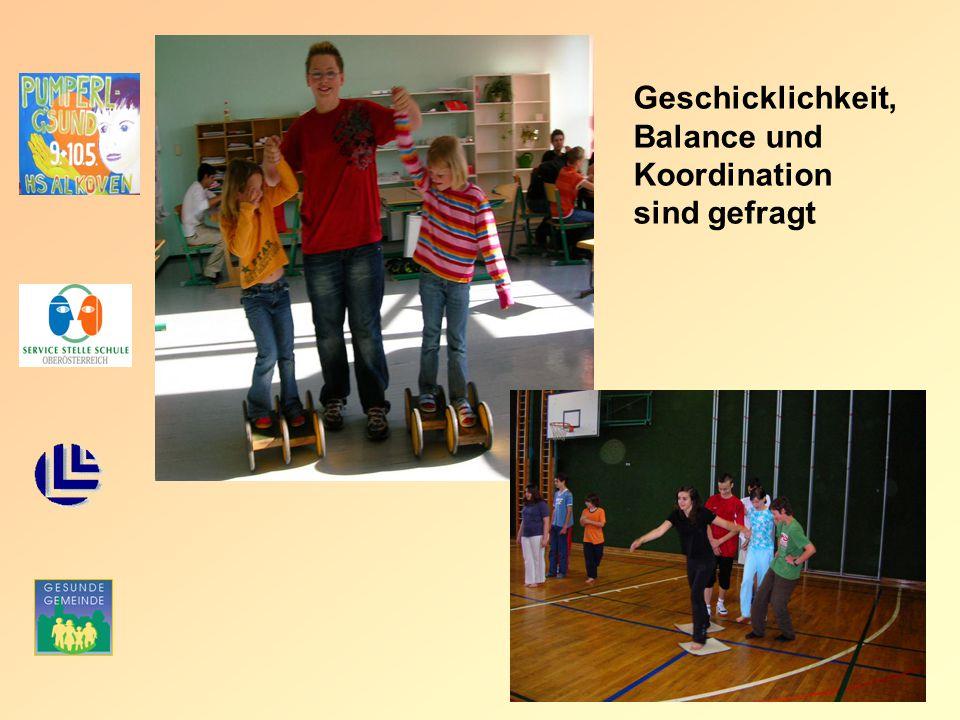 Geschicklichkeit, Balance und Koordination sind gefragt