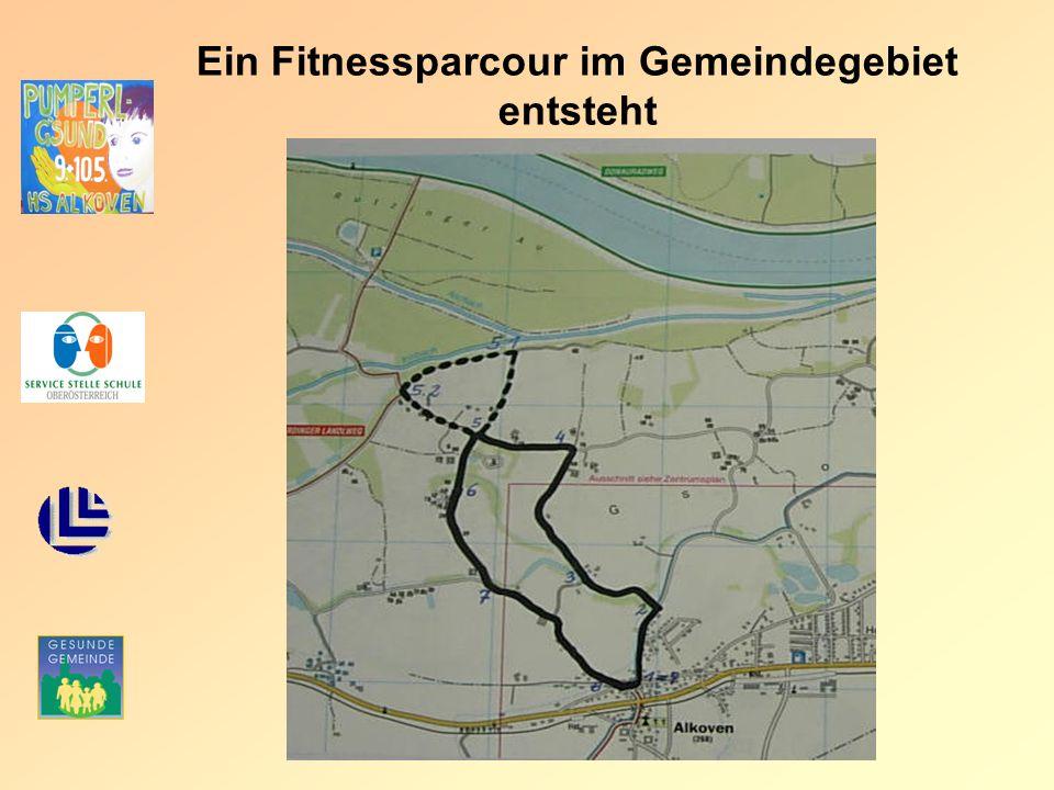 Ein Fitnessparcour im Gemeindegebiet entsteht