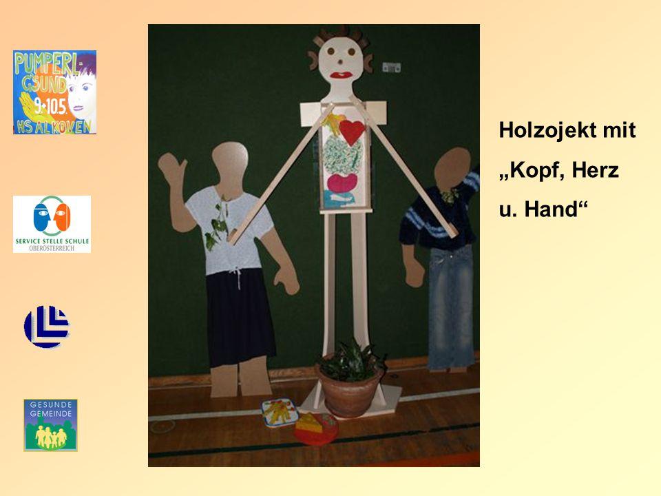 "Holzojekt mit ""Kopf, Herz u. Hand"