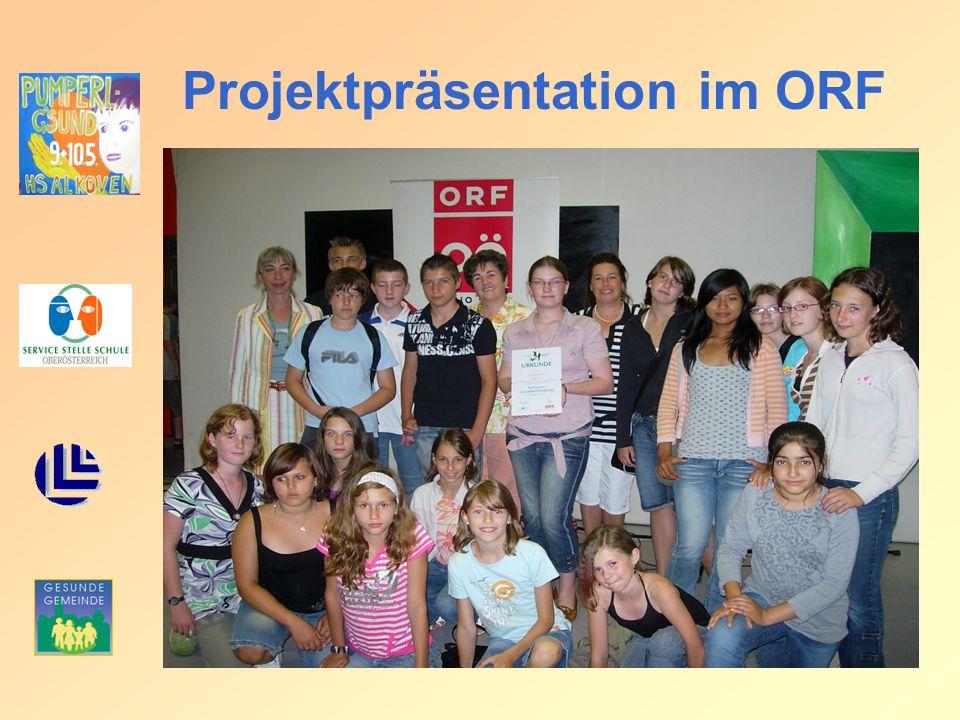Projektpräsentation im ORF