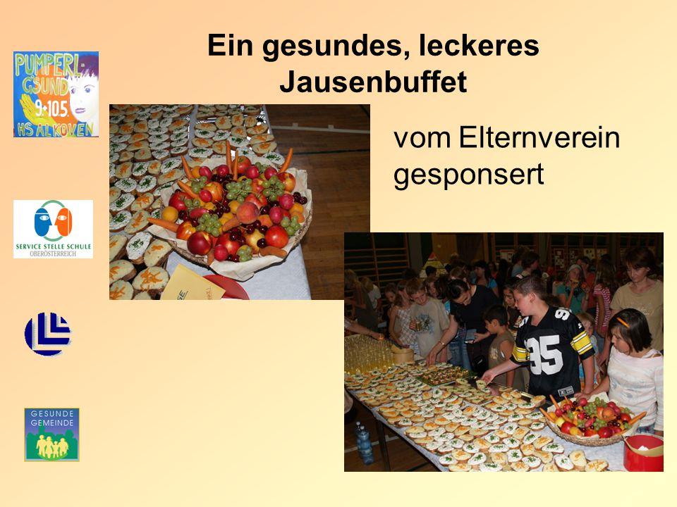 Ein gesundes, leckeres Jausenbuffet vom Elternverein gesponsert