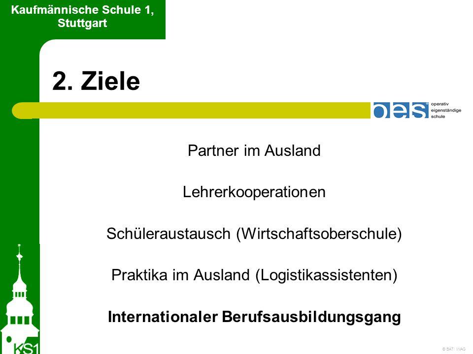 2. Ziele Partner im Ausland Lehrerkooperationen Schüleraustausch (Wirtschaftsoberschule) Praktika im Ausland (Logistikassistenten) Internationaler Ber