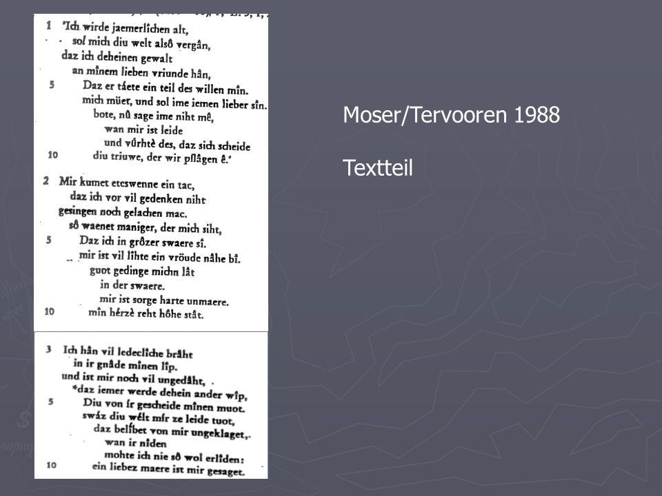 Moser/Tervooren 1988 Textteil