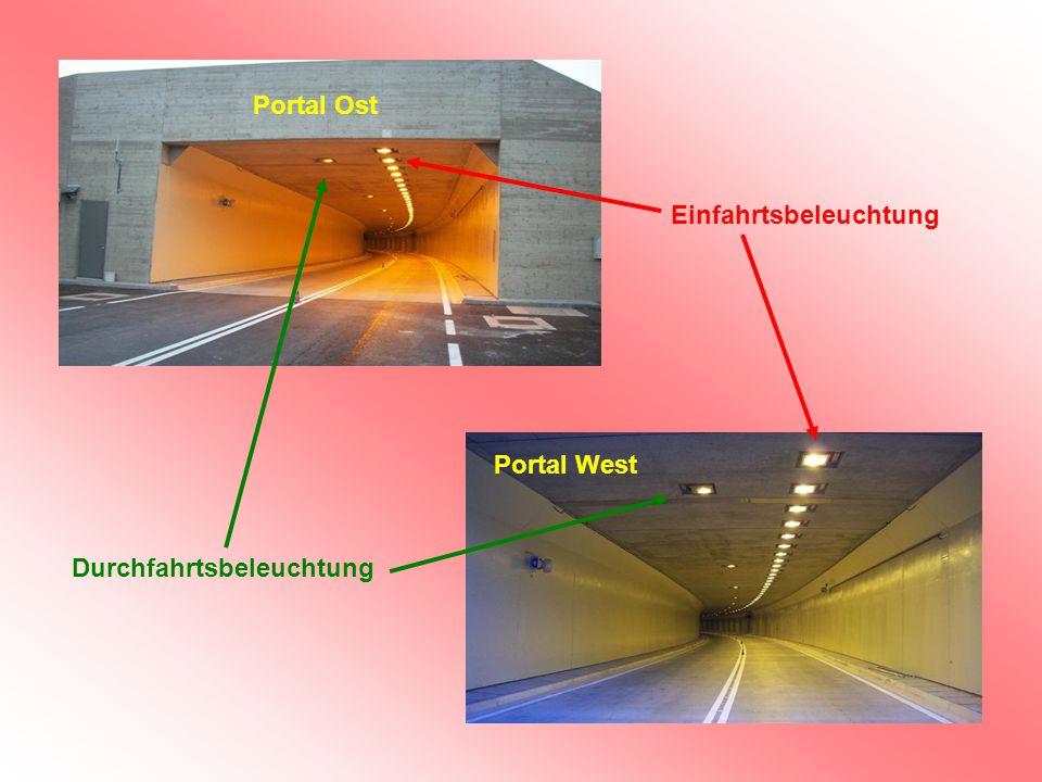 Portal Ost Portal West Durchfahrtsbeleuchtung Einfahrtsbeleuchtung