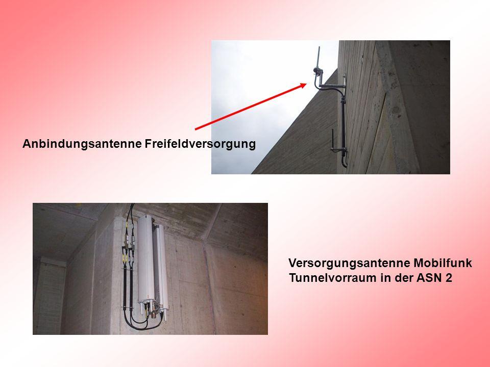 Anbindungsantenne Freifeldversorgung Versorgungsantenne Mobilfunk Tunnelvorraum in der ASN 2