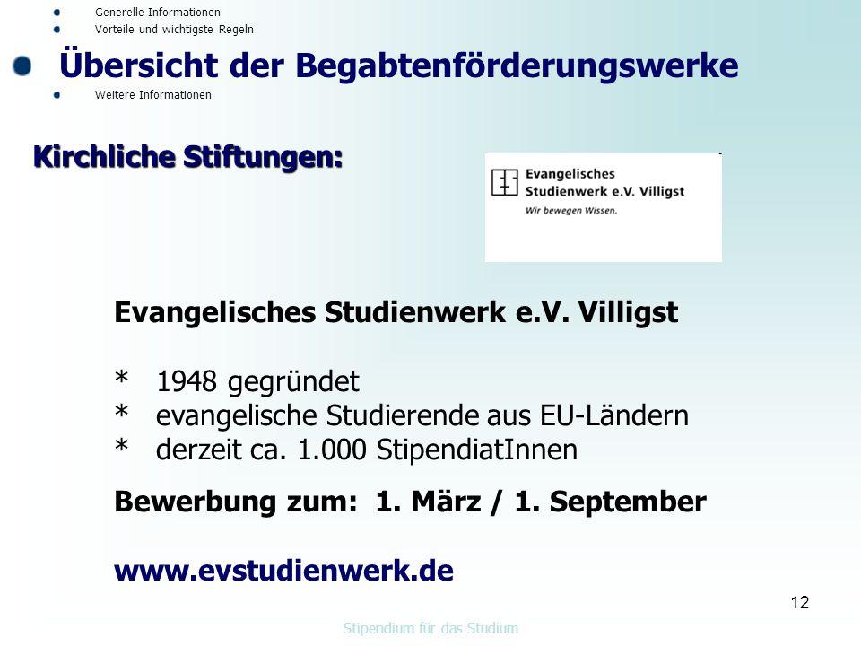 12 Evangelisches Studienwerk e.V.