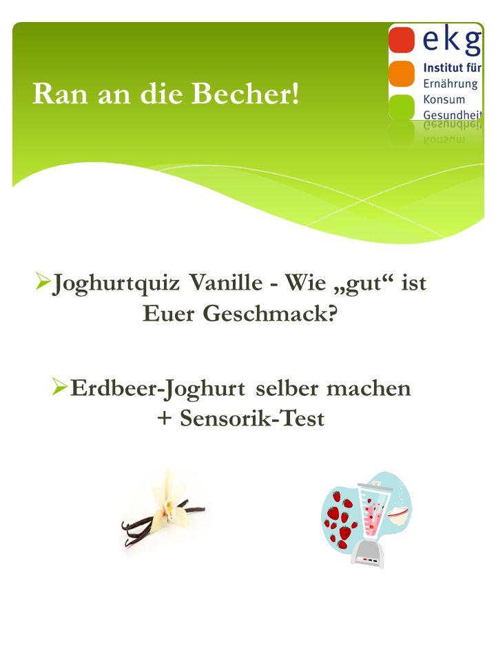 """ Joghurtquiz Vanille - Wie """"gut"""" ist Euer Geschmack?  Erdbeer-Joghurt selber machen + Sensorik-Test Ran an die Becher!"""