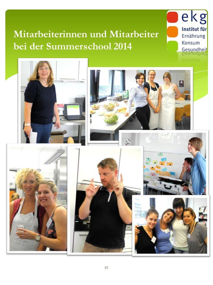 60 Mitarbeiterinnen und Mitarbeiter bei der Summerschool 2014