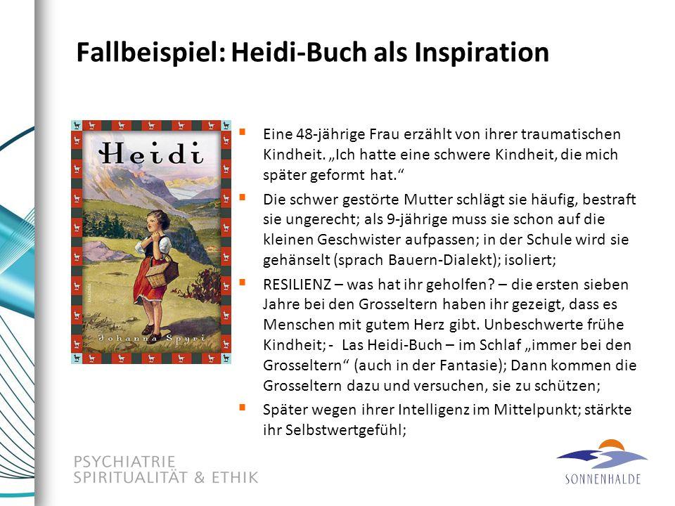 """Fallbeispiel: Heidi-Buch als Inspiration  Eine 48-jährige Frau erzählt von ihrer traumatischen Kindheit. """"Ich hatte eine schwere Kindheit, die mich s"""