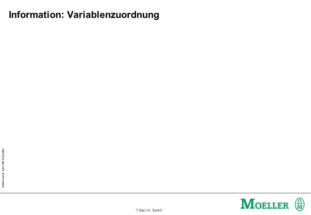 Schutzvermerk nach DIN 34 beachten 7-Sep-14, Seite 6 Information: Variablenzuordnung