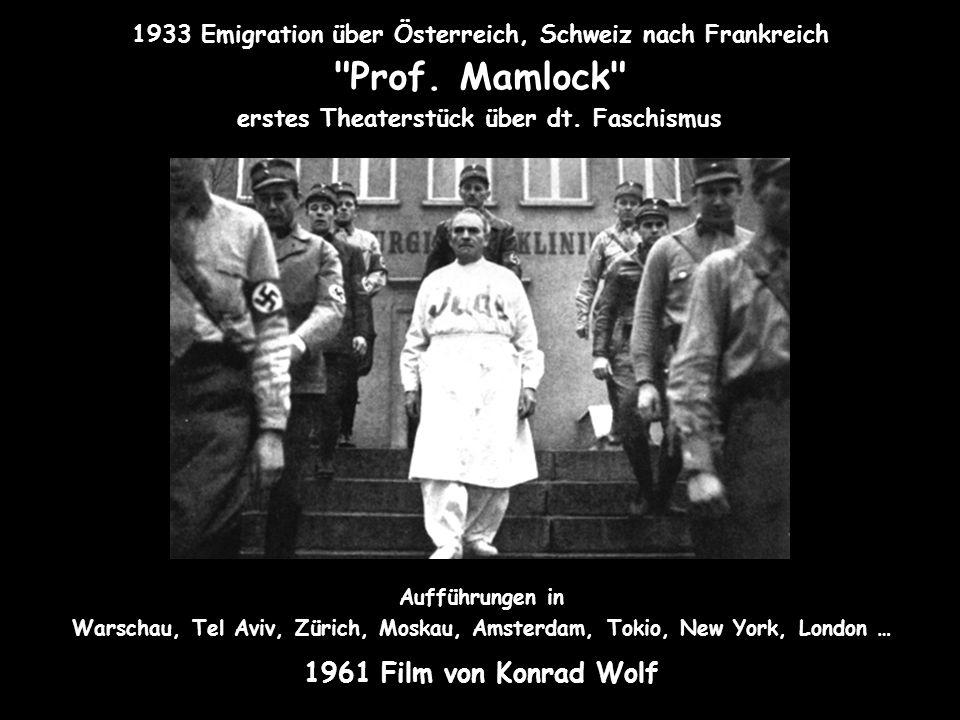 1933 Emigration über Österreich, Schweiz nach Frankreich