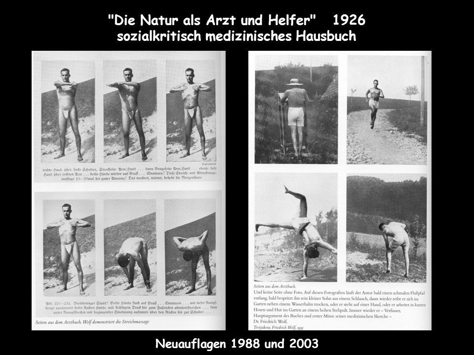 Die Natur als Arzt und Helfer 1926 sozialkritisch medizinisches Hausbuch Neuauflagen 1988 und 2003