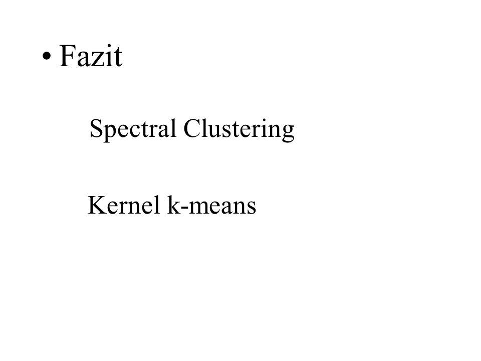 Fazit Spectral Clustering Kernel k-means