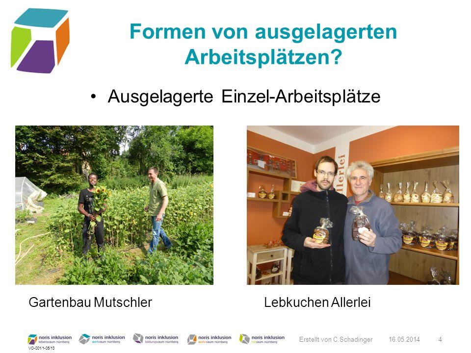VO-001/1-05/13 Formen von ausgelagerten Arbeitsplätzen? Ausgelagerte Einzel-Arbeitsplätze Gartenbau Mutschler Lebkuchen Allerlei 16.05.2014 Erstellt v