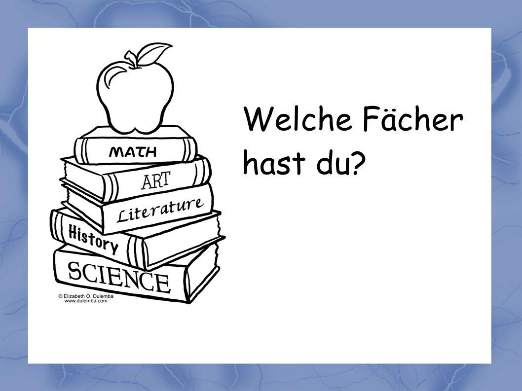 Ich habe Deutsch...