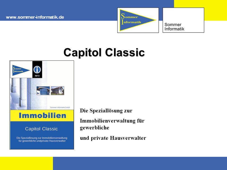 Einleitung Capitol Classic – ist ein einfach zu handhabendes Programm zur Verwaltung von bebauten und unbebauten Grundstücken.