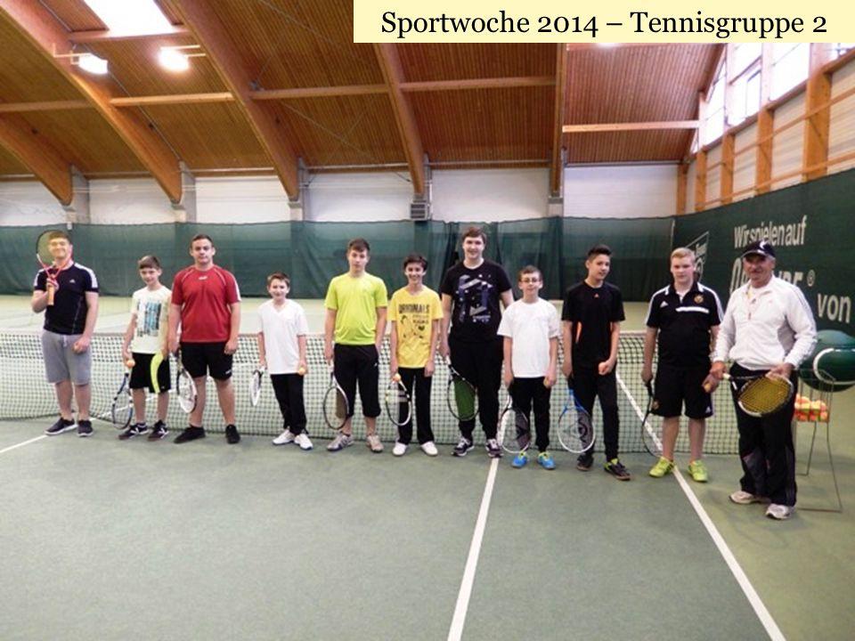 Sportwoche 2014 – Tennisgruppe 2