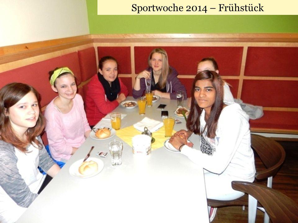 Sportwoche 2014 – Frühstück