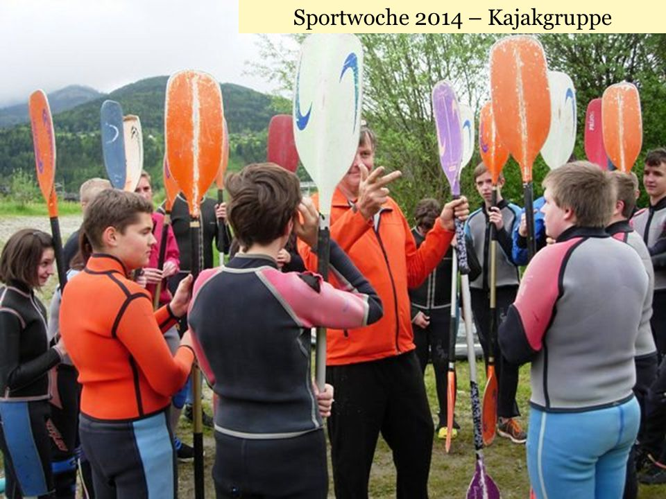 Sportwoche 2014 – Kajakgruppe