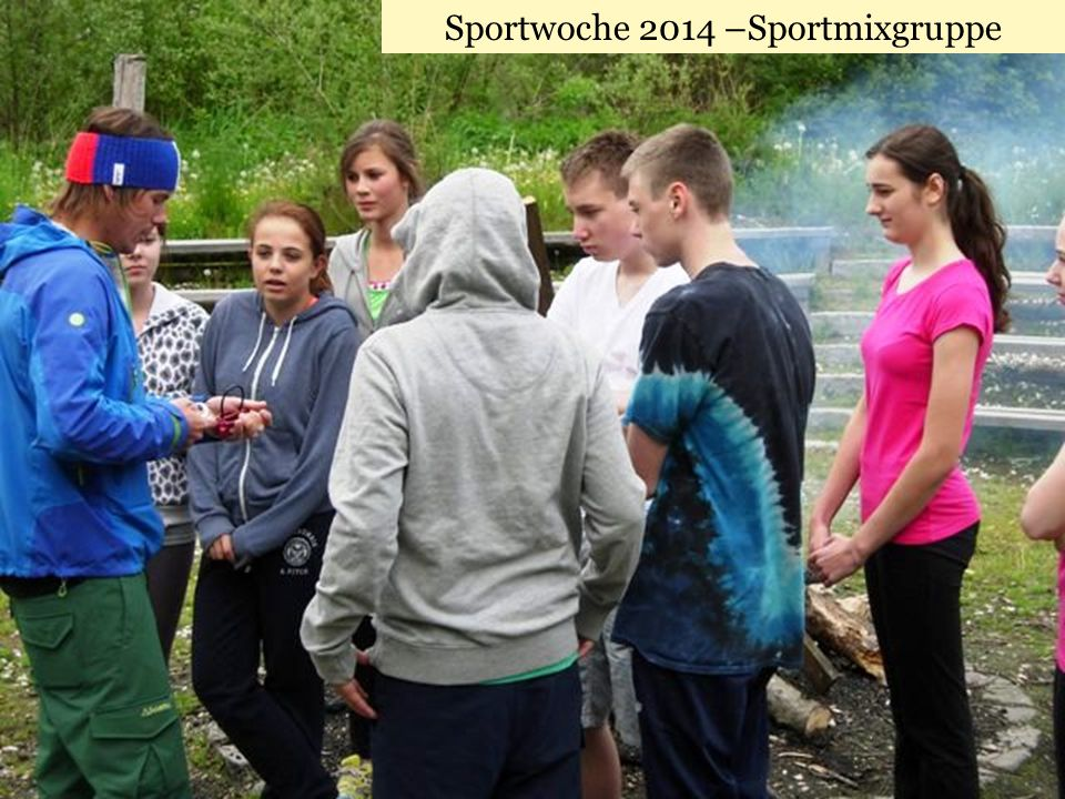 Sportwoche 2014 –Sportmixgruppe