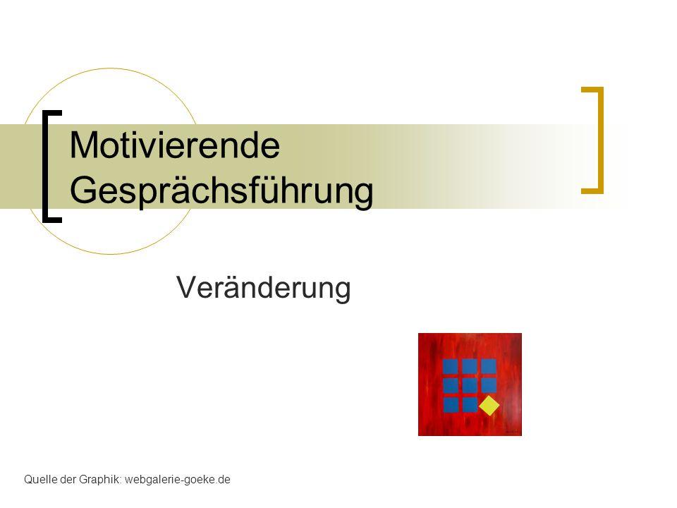Motivierende Gesprächsführung Veränderung Quelle der Graphik: webgalerie-goeke.de