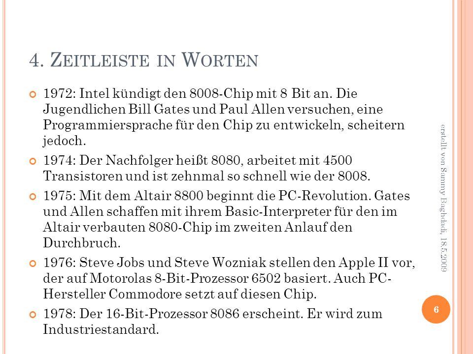 4. Z EITLEISTE IN W ORTEN 1972: Intel kündigt den 8008-Chip mit 8 Bit an.