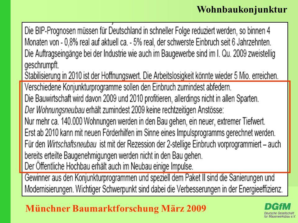 Münchner Baumarktforschung März 2009