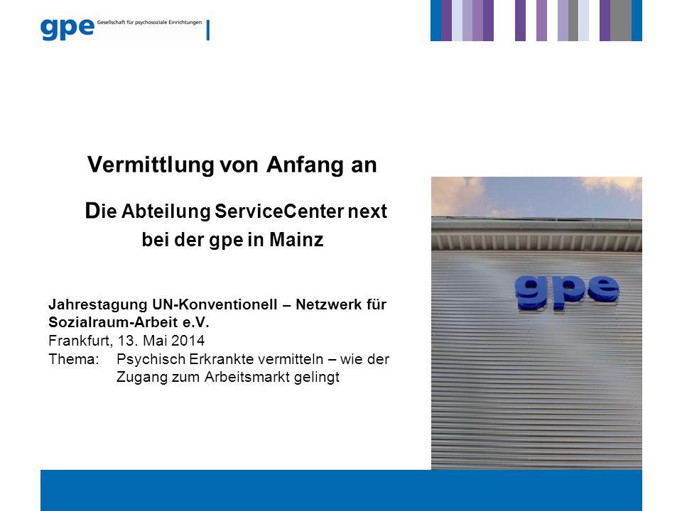 Jahrestagung UN-Konventionell – Netzwerk für Sozialraum-Arbeit e.V. Frankfurt, 13. Mai 2014 Thema: Psychisch Erkrankte vermitteln – wie der Zugang zum