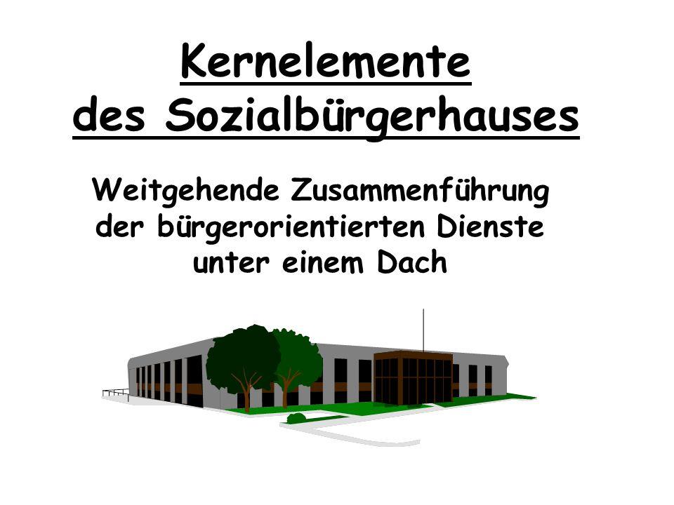 Kernelemente Arbeitsabläufe Fallbeispiele Organigramm Sozialbürgerhaus