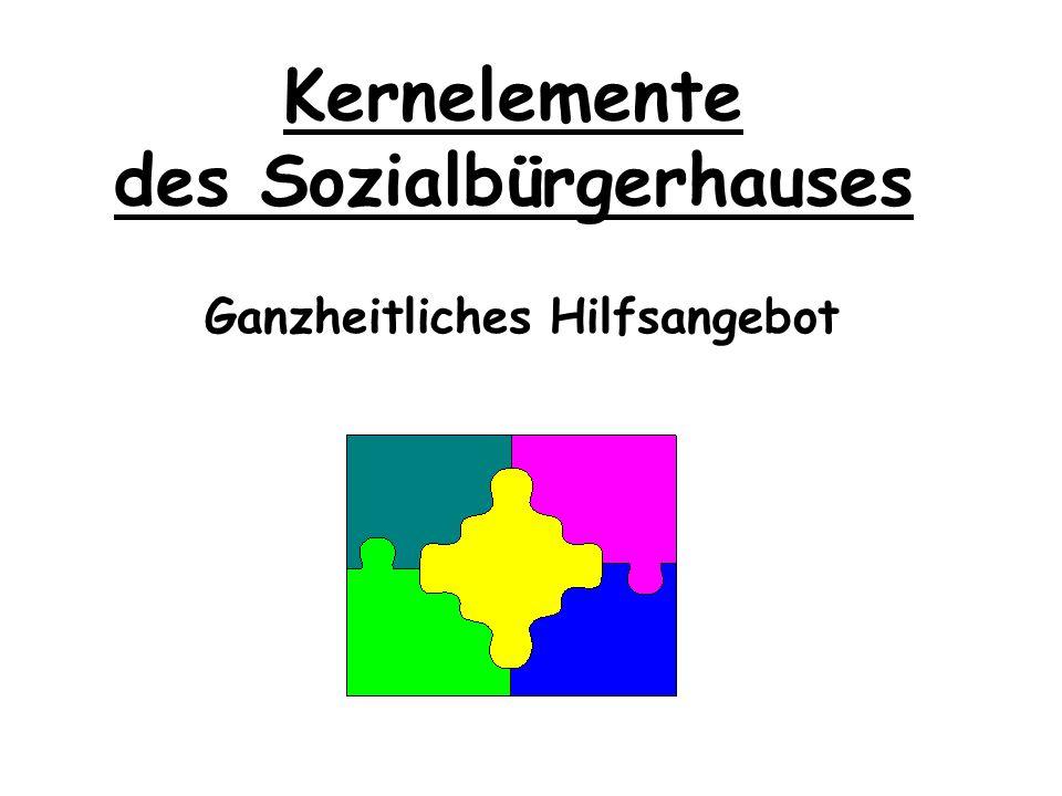 Kernelemente des Sozialbürgerhauses Interdisziplinäre Organisation und Arbeitsweise