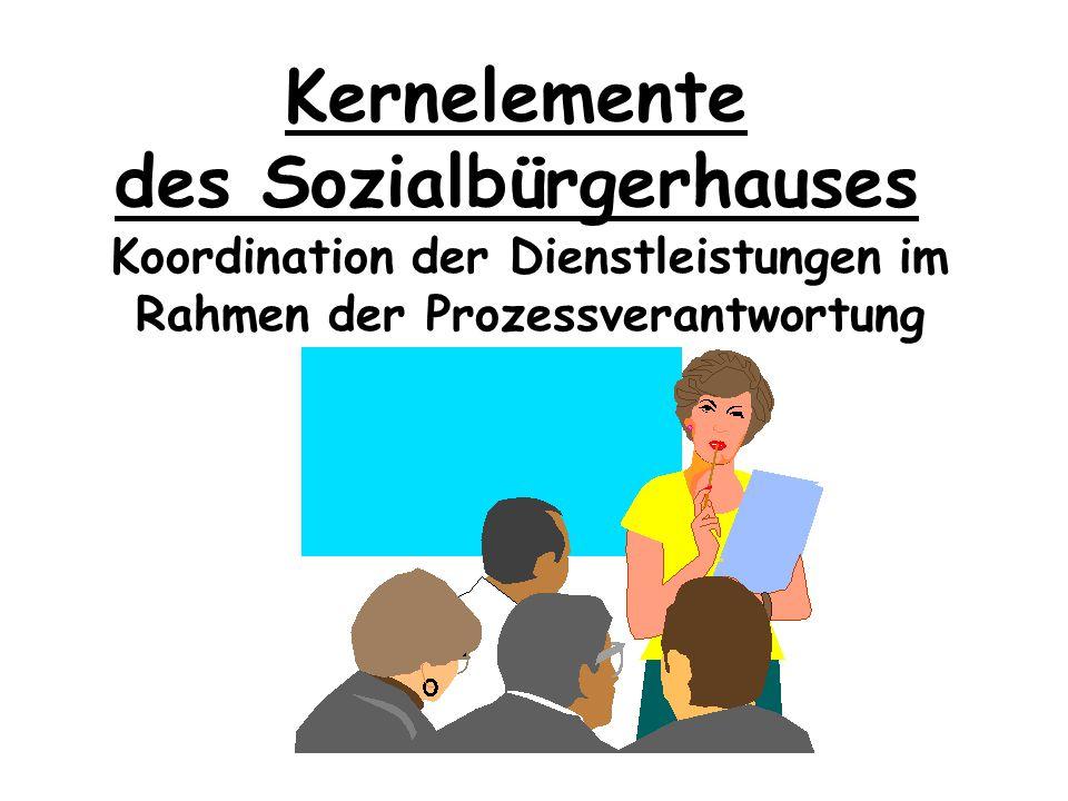 Kernelemente des Sozialbürgerhauses Ganzheitliches Hilfsangebot