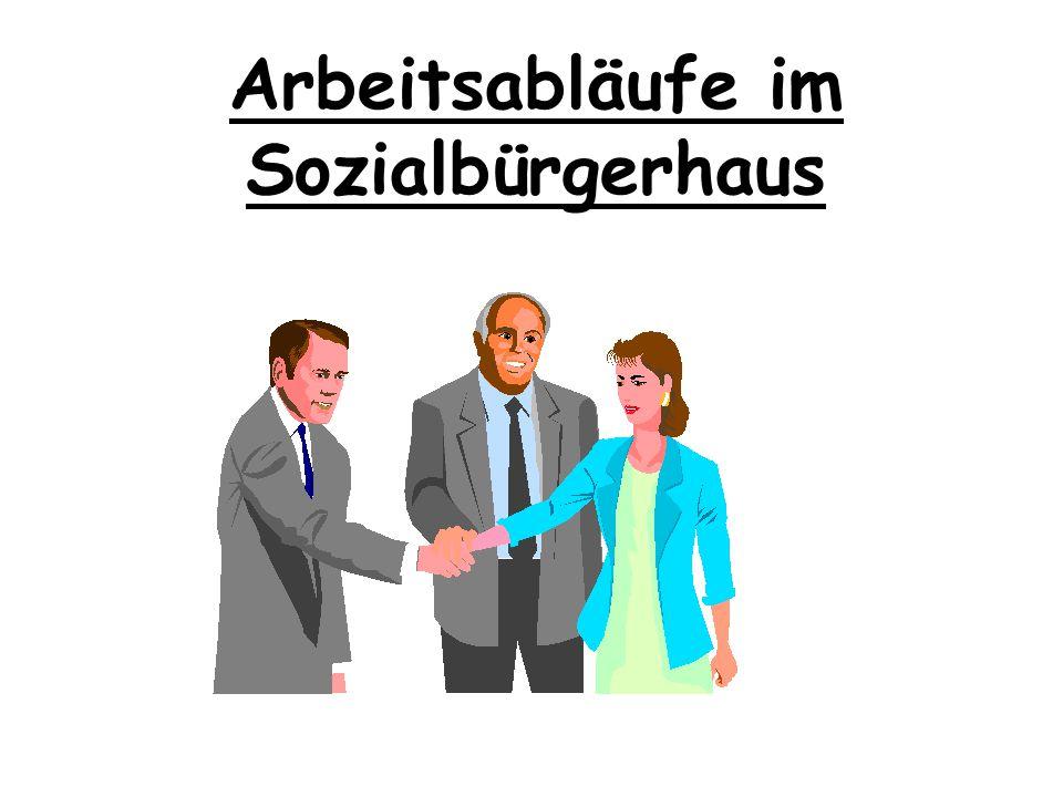 Kernelemente des Sozialbürgerhauses Erarbeitung von Maßnahmeplänen für die Hilfegewährung zur Zielvereinbarung und Wirksamkeitskontrolle mit aktiver E
