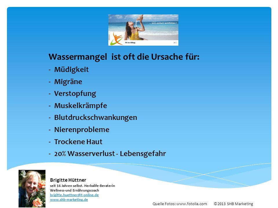 Wassermangel ist oft die Ursache für: - Müdigkeit - Migräne - Verstopfung - Muskelkrämpfe - Blutdruckschwankungen - Nierenprobleme - Trockene Haut - 2
