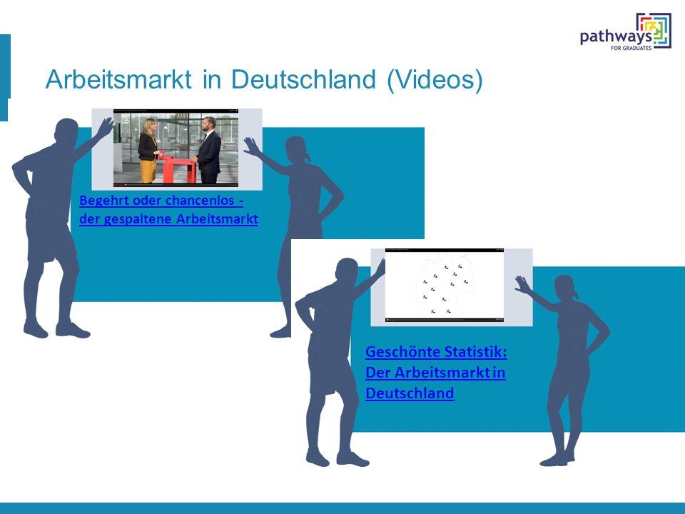 Arbeitsmarkt in Deutschland (Videos) Begehrt oder chancenlos - der gespaltene Arbeitsmarkt Geschönte Statistik: Der Arbeitsmarkt in Deutschland