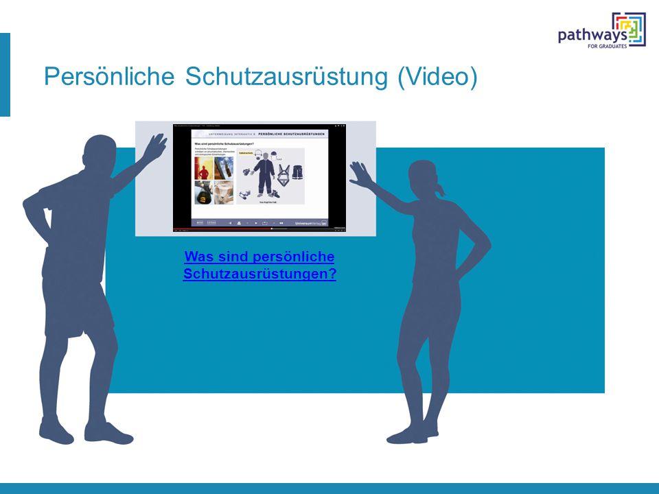 Persönliche Schutzausrüstung (Video) Was sind persönliche Schutzausrüstungen