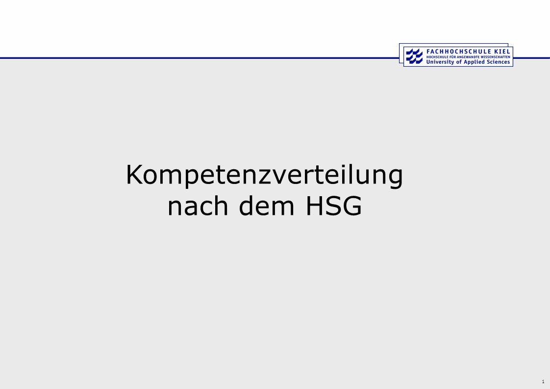 1 Kompetenzverteilung nach dem HSG