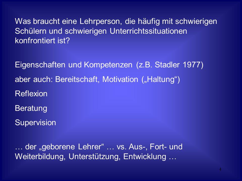 5 Ein Überblick zu Literatur und Forschung: (vgl.