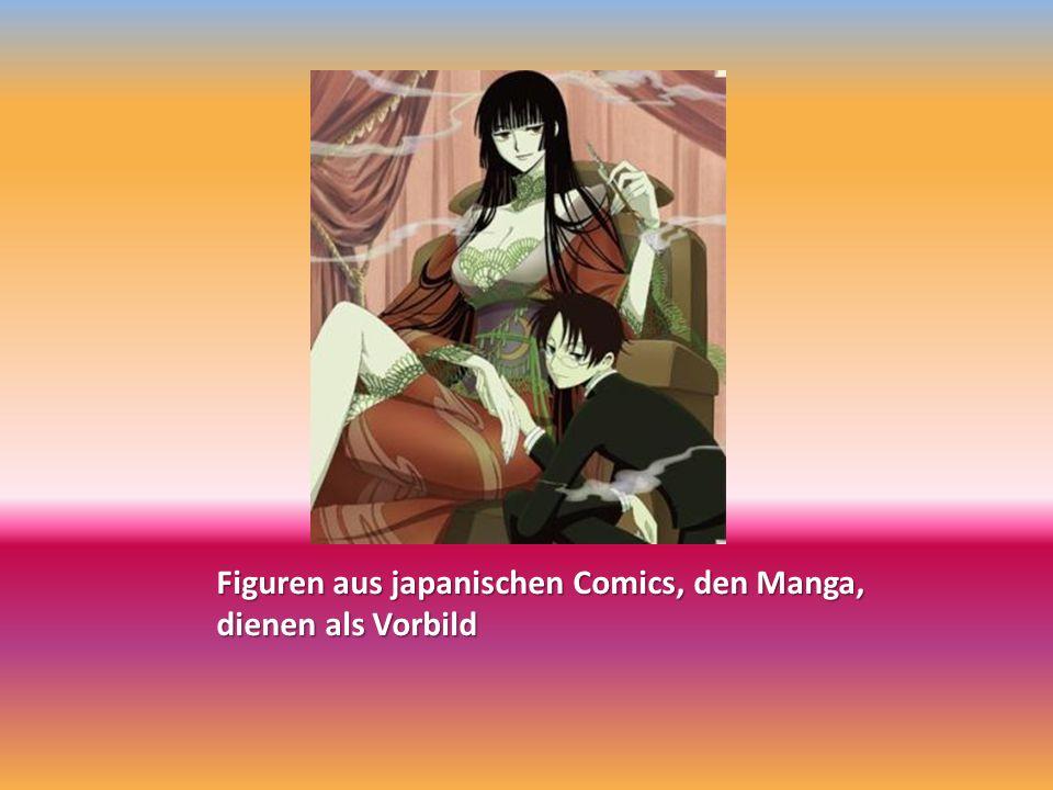 Figuren aus japanischen Comics, den Manga, dienen als Vorbild
