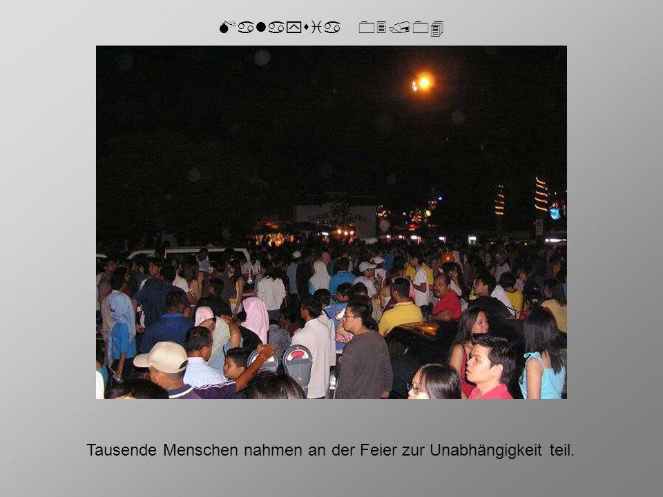 Malaysia 03/04 Tausende Menschen nahmen an der Feier zur Unabhängigkeit teil.