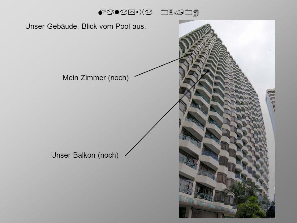 """Malaysia 03/04 Aufgenommen vor unserer """"Haustüre . Alle 21 Stockwerke."""