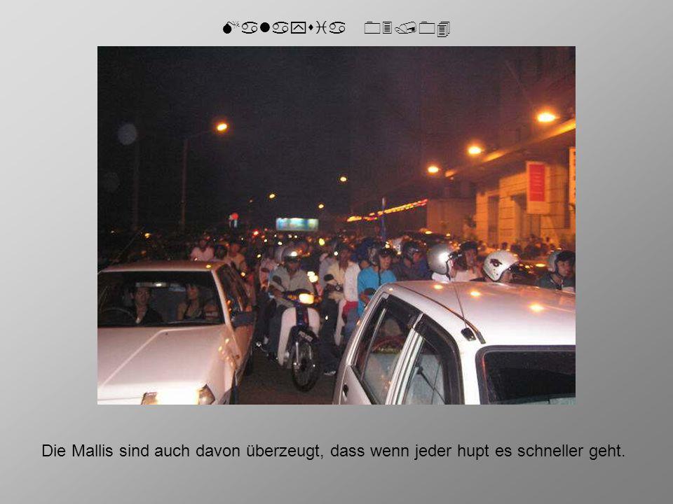 Malaysia 03/04 Die Mallis sind auch davon überzeugt, dass wenn jeder hupt es schneller geht.